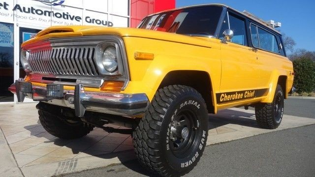 1977 jeep cherokee chief v8 for sale. Black Bedroom Furniture Sets. Home Design Ideas