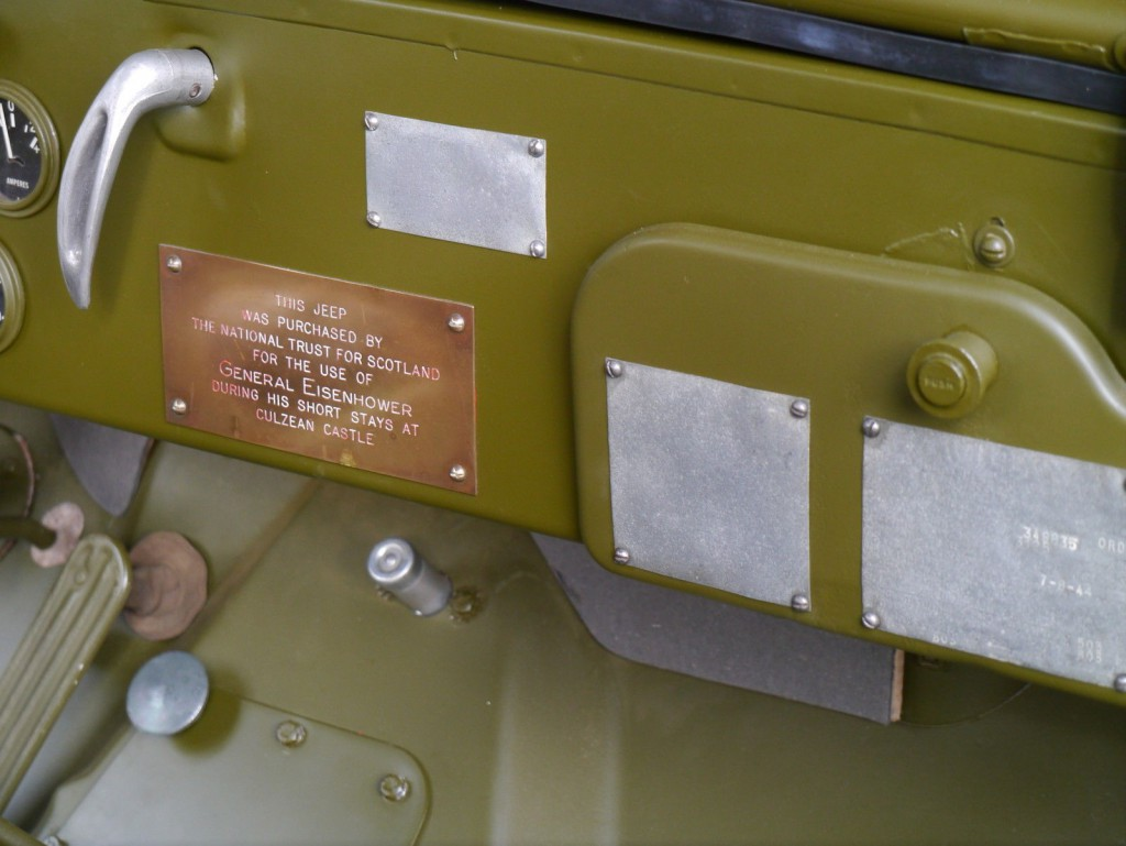 1943 Willys JEEP1-5 HP,  Generál Eisenhower