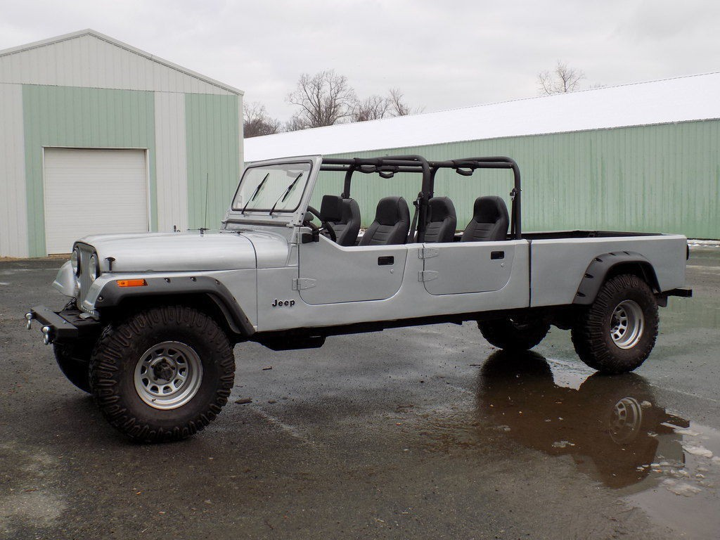 1984 Jeep Cj Crew Cab Short Bed Pickup V8 For Sale