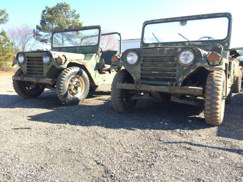 2x  M151a2 MUTT Jeeps; M416 Trailer Military Army Hmmwv M35a2 Deuce M939 for sale