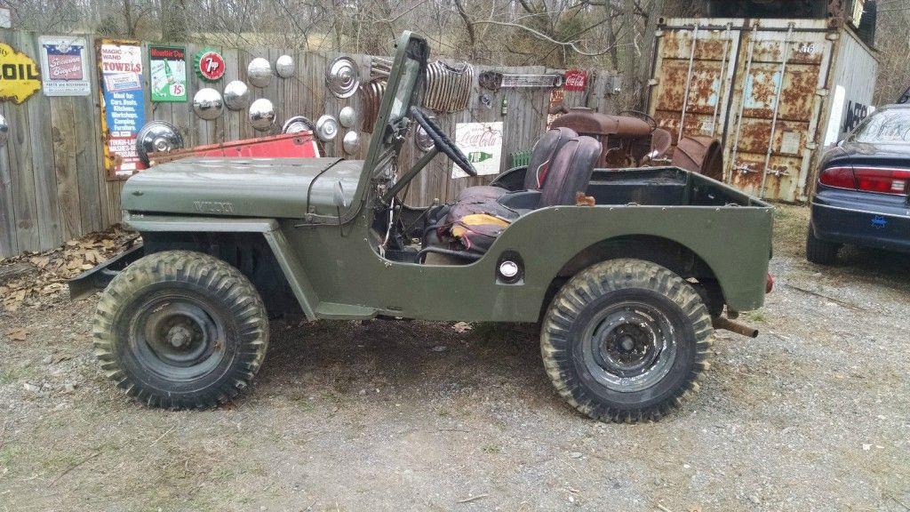 1951 jeep willys cj 3 2 2l for sale. Black Bedroom Furniture Sets. Home Design Ideas