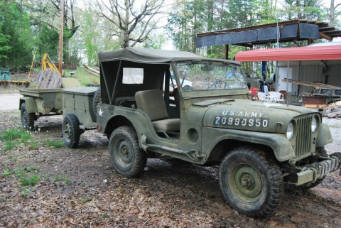 1953 Jeep Willys Military Jeep WII, 2 Trailers for sale