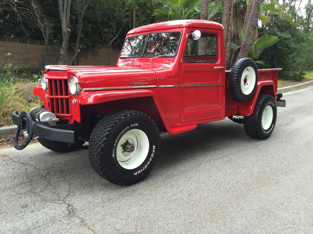 1957 jeep willys pick up truck off road for sale. Black Bedroom Furniture Sets. Home Design Ideas