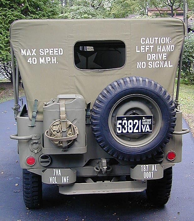 1942 Jeep Willys MB 2.2L For Sale