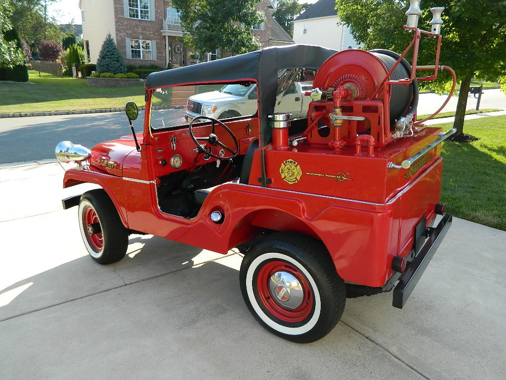 1958 Willys Jeep Cj5 Fire Truck For Sale