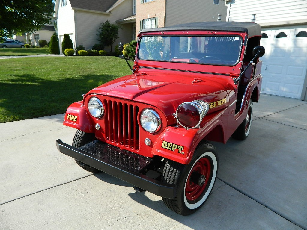 1958 willys jeep cj5 fire truck for sale. Black Bedroom Furniture Sets. Home Design Ideas