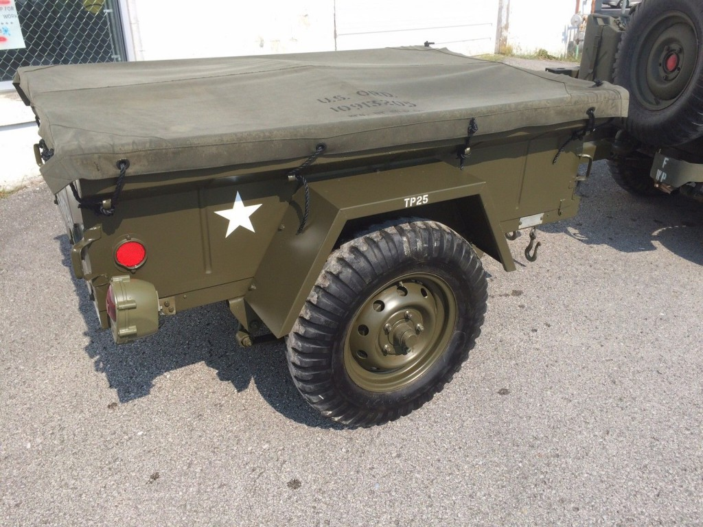 jeep willys restore m416 military trailer for sale