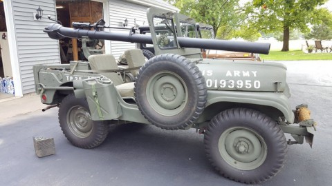 1952 Jeep with 106mm recoilless rifle for sale