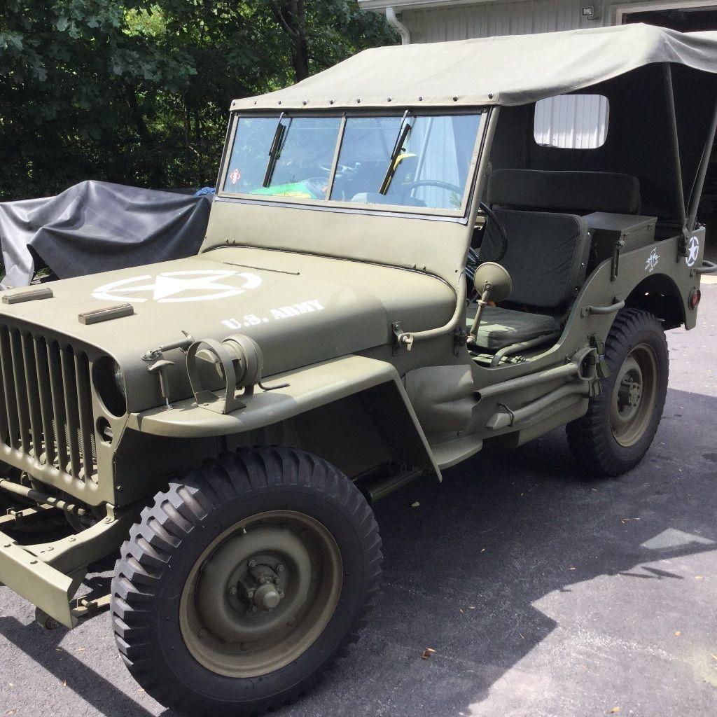 1943 willys mb jeep for sale. Black Bedroom Furniture Sets. Home Design Ideas