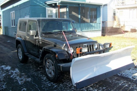 2008 Jeep Wrangler Sahara with Blizzard snowplow for sale