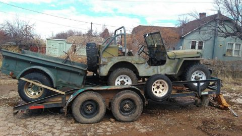 1944 Jeep Willys/ Millitary Trailer for sale