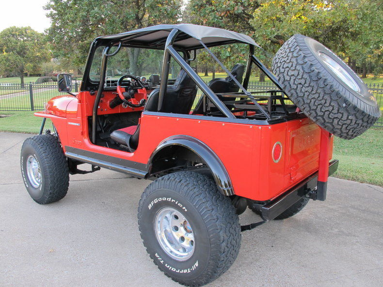1982 Jeep CJ-7, Currie nápravy, 5,7l