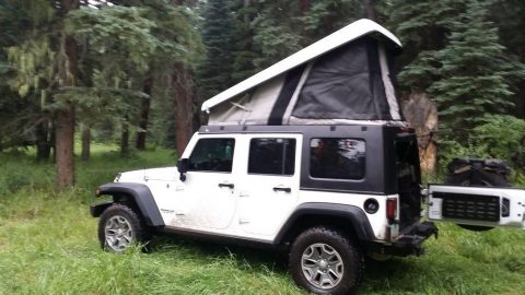 2014 Jeep Wrangler with Ursa Minor Pop Top camper for sale