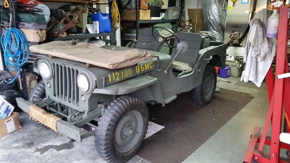 1946 Willys CJ2A Military Olive Drab