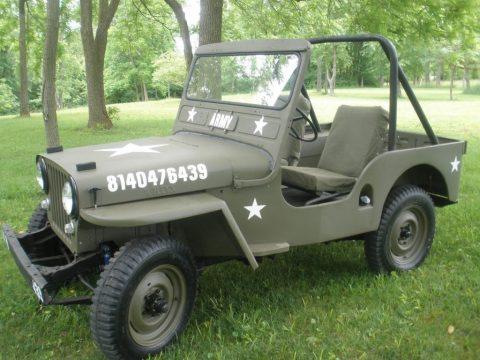 1950 Willys 1950 jeep cj3a Militray style for sale
