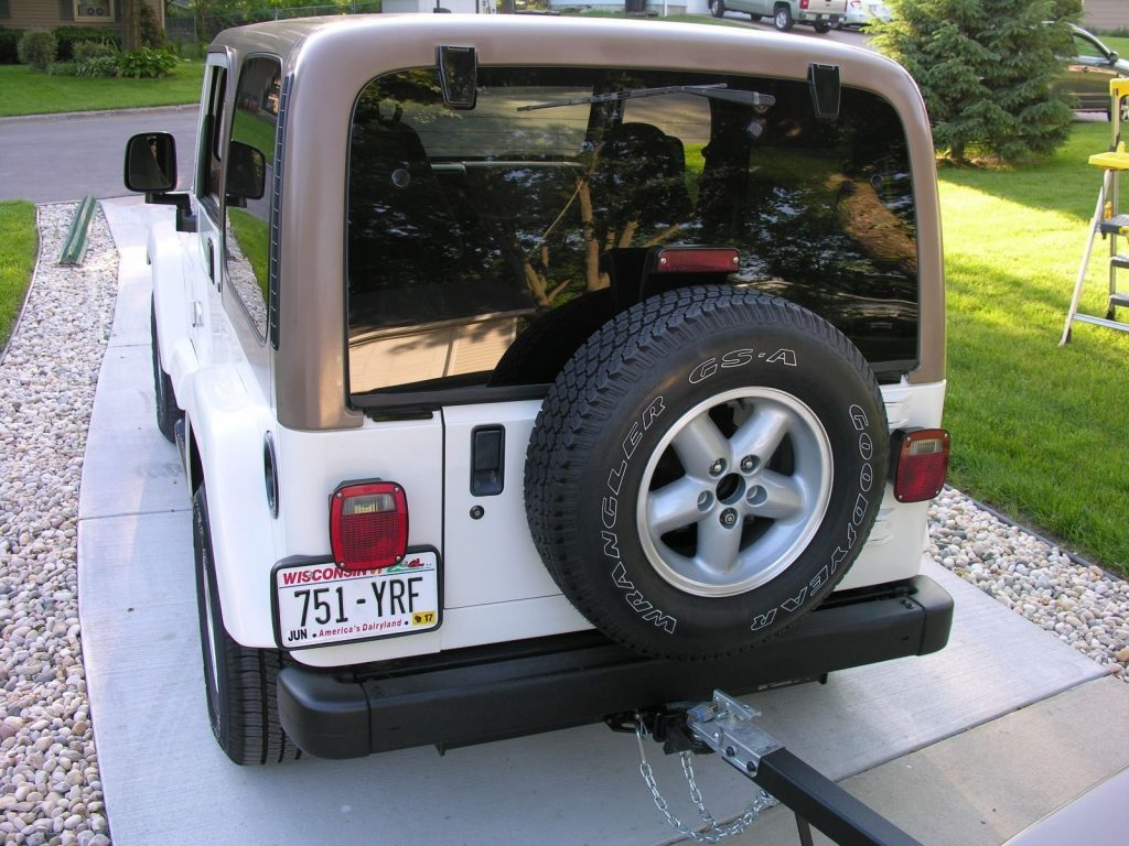 1997 Jeep Wrangler Sahara with Matching Trailer