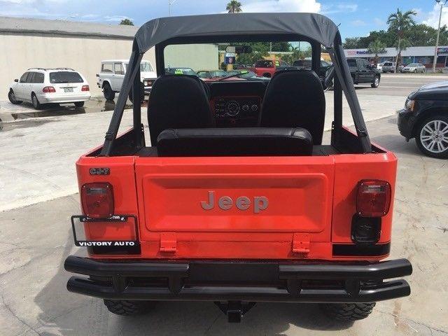 1979 Jeep CJ-7 Renegade 1 Miles Red 4.2L