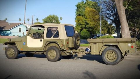 1997 Jeep Wrangler Se-custom Army for sale