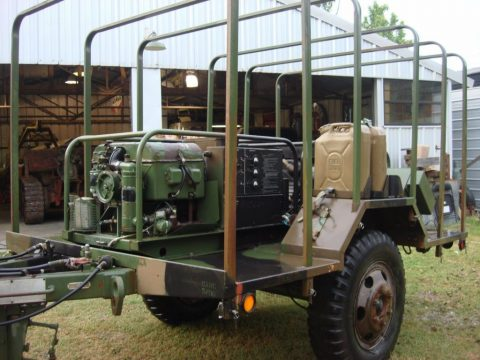 US Army Trailer Mounted Dual Generator Unit for sale