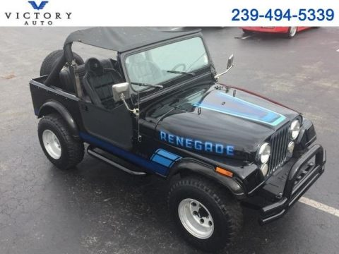 1984 Jeep CJ-7 Renegade 133,461 Miles Black 2.5L L4 OHV Automatic for sale