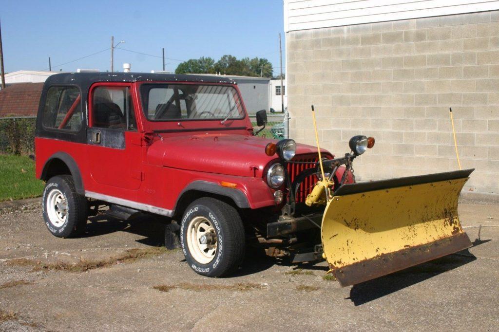1983 Jeep CJ Renegade Plow