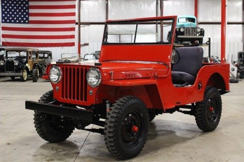1948 Willys Jeep CJ-2A Red Jeep 2.2L Manual for sale