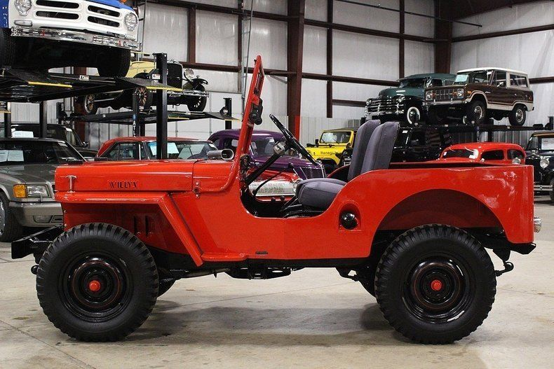 1948 Willys Jeep CJ-2A Red Jeep 2.2L Manual