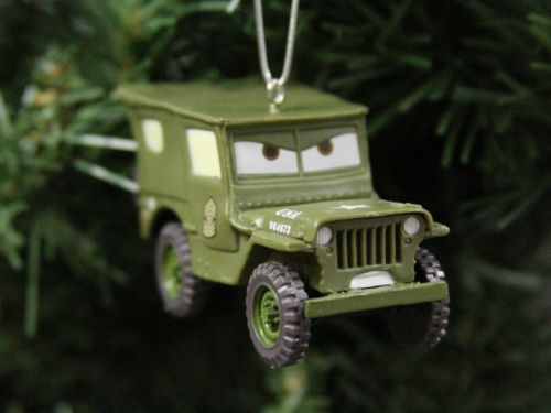 Jeep Christmas Ornament.Arkansas Sarge The Military Jeep Cars 2 Disney Christmas