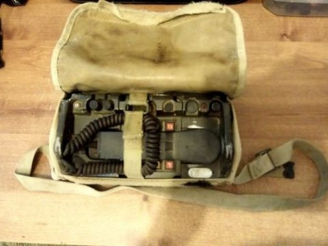 US Military ARMY Radio Field Phone Telephone Including THE BAG for sale