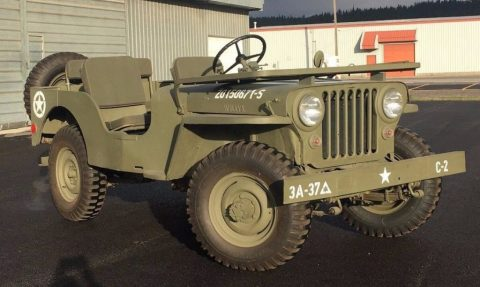 1947 CJ2A Jeep Willys Painted in the colors of 3rd Army 37th Battalion for sale