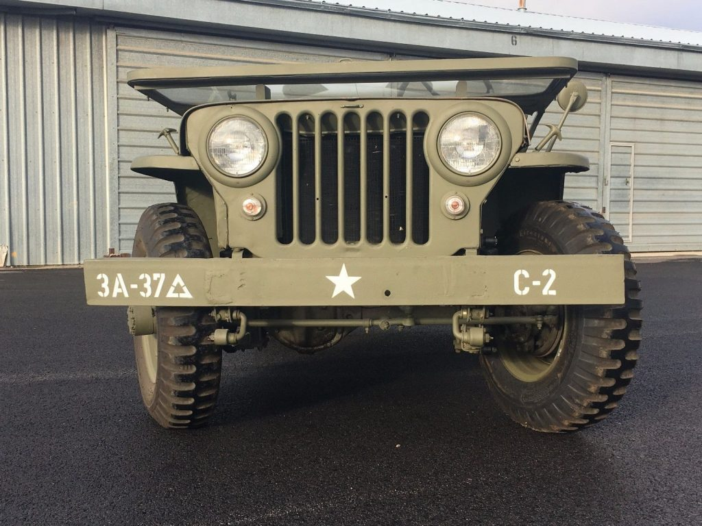 1947 CJ2A Jeep Willys Painted in the colors of 3rd Army 37th Battalion