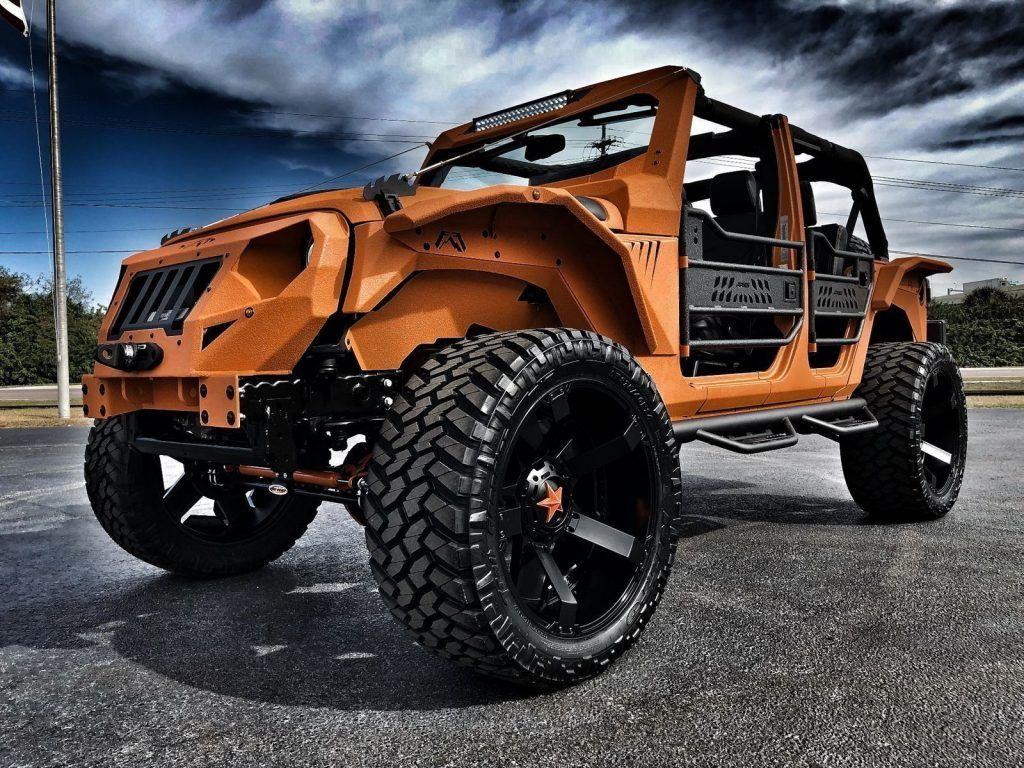 2017 Jeep Wrangler Orange Crush Rubicon Grumper 4.88 YUKON