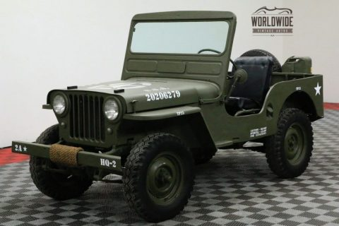 1948 Jeep Willys CJ2A Restored 4X4 Collector MILITARY for sale