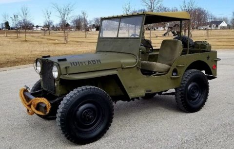 1948 Jeep Willys CJ2A 101st Airborne Military Paint for sale