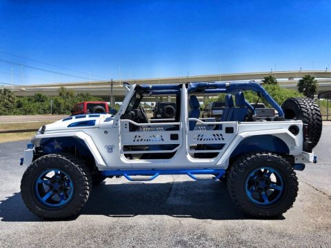 2018 Jeep Wrangler Custom White N' BLUE Lifted Leather HARDTOP for sale