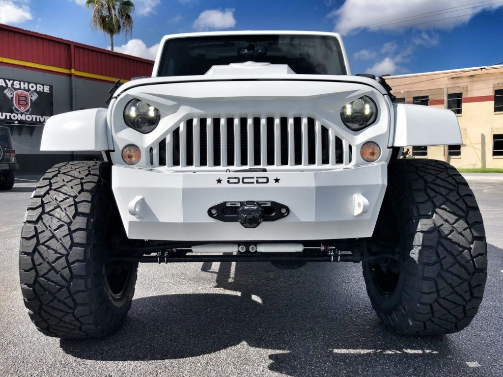 2018 Jeep Wrangler Custom Lifted Sahara White OUT Leather HARDTOP