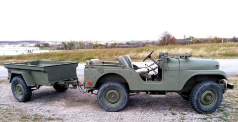 1968 Jeep CJ Military jeep and M416 trailer for sale