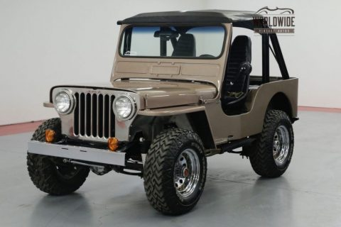 1948 Willys CJ2A 327v8! 4 Speed W/overdrive. 4X4. SOFT TOP. for sale