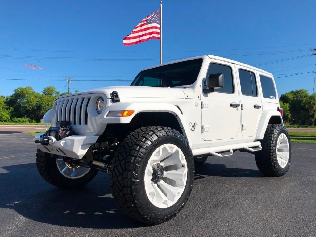 2018 Jeep Wrangler JL White OUT Custom Lifted Leather HARDTOP