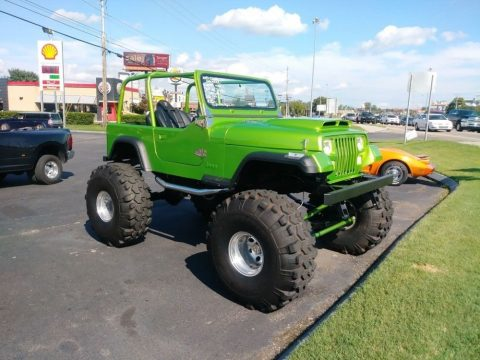 1992 Jeep YJ  LIME Green 4X4 Frame OFF Restoration Coyote ENGIN for sale