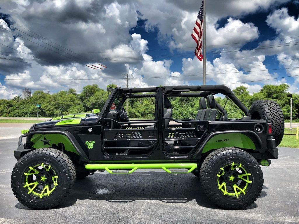 2018 Jeep Wrangler Rubicon Custom Lifted 37″ Nittos Leather DV8 OCD