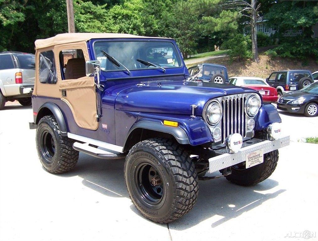 1980 Jeep CJ 4X4 CJ 7 LEVI TRIM PKG 2.5L 4CYL 4 SPD Restored Driver TRAIL for sale