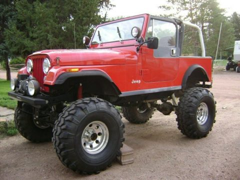 1984 Jeep CJ7 ifted on 38's for sale