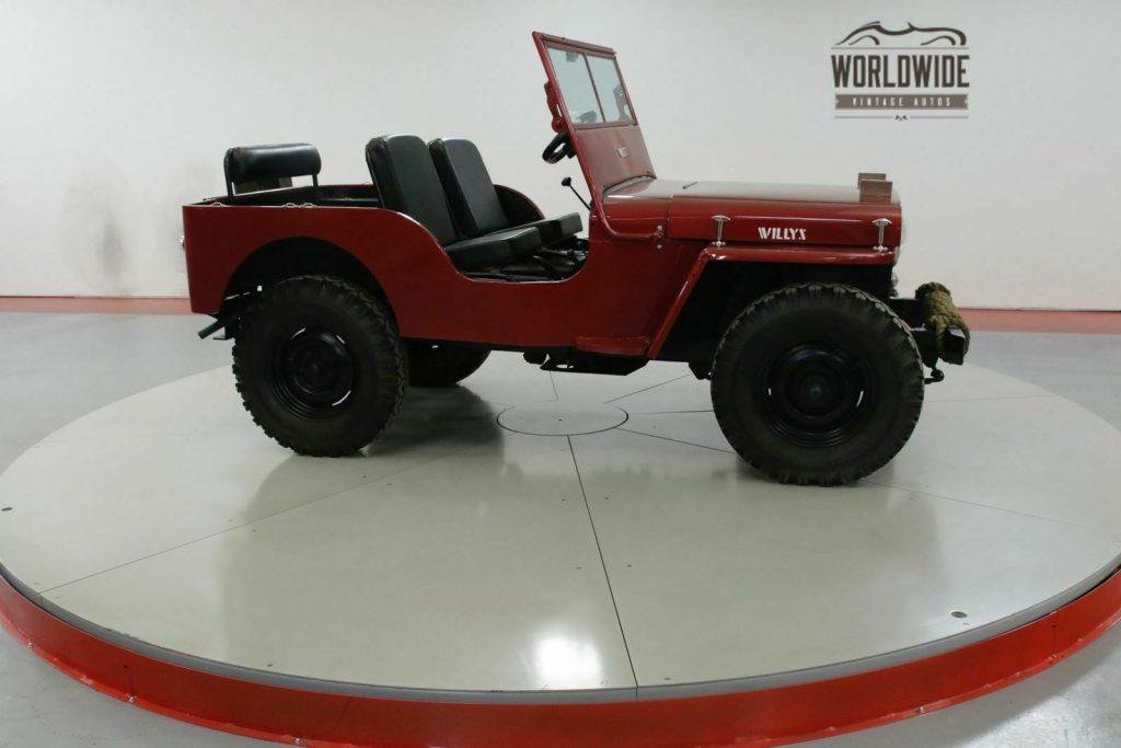 1947 Jeep Willys CJ2A Original Civil Defense JEEP
