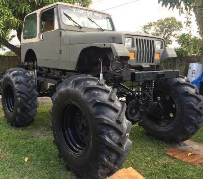 1989 Jeep Wrangler Sahara on 56″ tires for sale