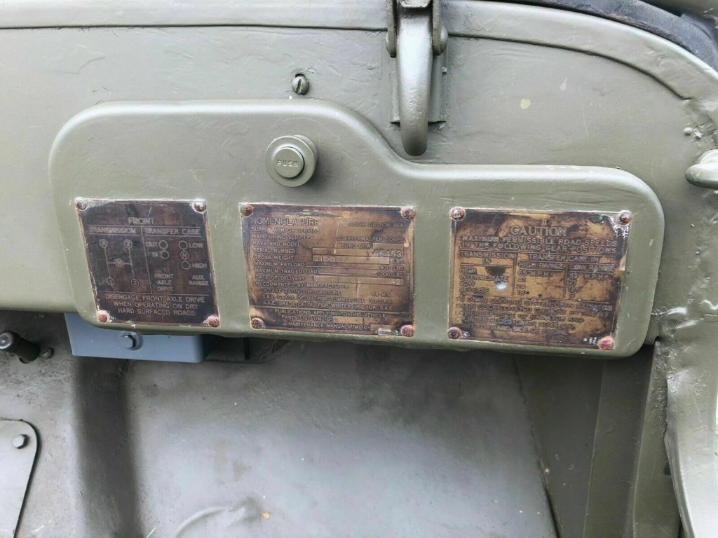 1942 Jeep Willys Ford GPW