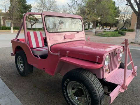 1952 Willys PINK Jeep! for sale