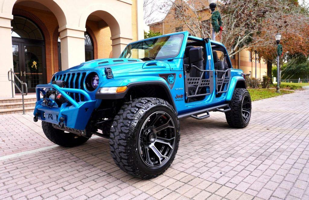 2020 Jeep Wrangler Unlimited Sahara 4X4~CUSTOM~LIFTED~NAV~LEATHER