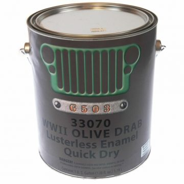 Military Vehicles & Equipment  WW2 Flat Olive Drab 33070 Paint 1Gal US Made G503 for sale